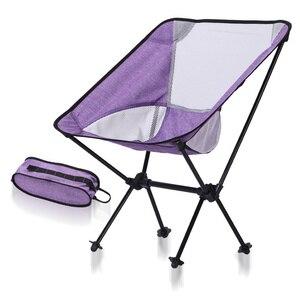 Image 2 - Silla de pesca para interior y exterior, taburete de Camping, muebles de exterior, portátil, púrpura, azul, ligero, 600D, sillas de tela Oxford