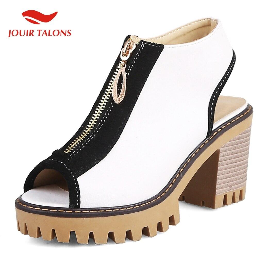 Peep Toe Zip High Heels Summer Sandals Woman Shoes Party Sandals Woman Shoes Women large Size 34 43