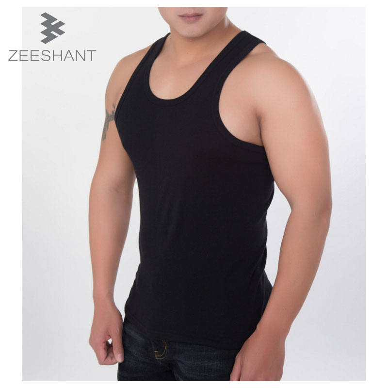 Plus Size XXXXXXL Man's Cotton Solid Color Seamless Underwear Brand Clothing Vest Comfortable Undershirt in Men's Undershirts
