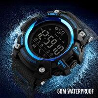 Skmei 스포츠 스마트 시계 남성 브랜드 보수계 칼로리 디지털 시계 방수 블루투스 스마트 전자 시계 남성 시계