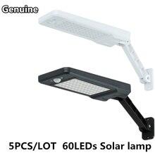 5PCS Genuine Motion Sensor Solar Lamp 60LEDs PIR waterproof IP65 Remote Control Outdoor Solar Light 3 Lighting mode wall light цена