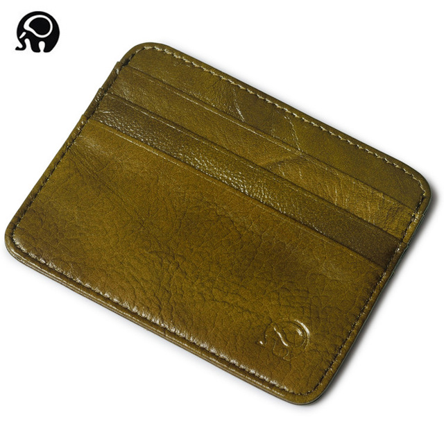 men Wallet Business Card Holder bank cardholder leather cow pickup package bus card holder Slim leather multi-card-bit pack bag 2