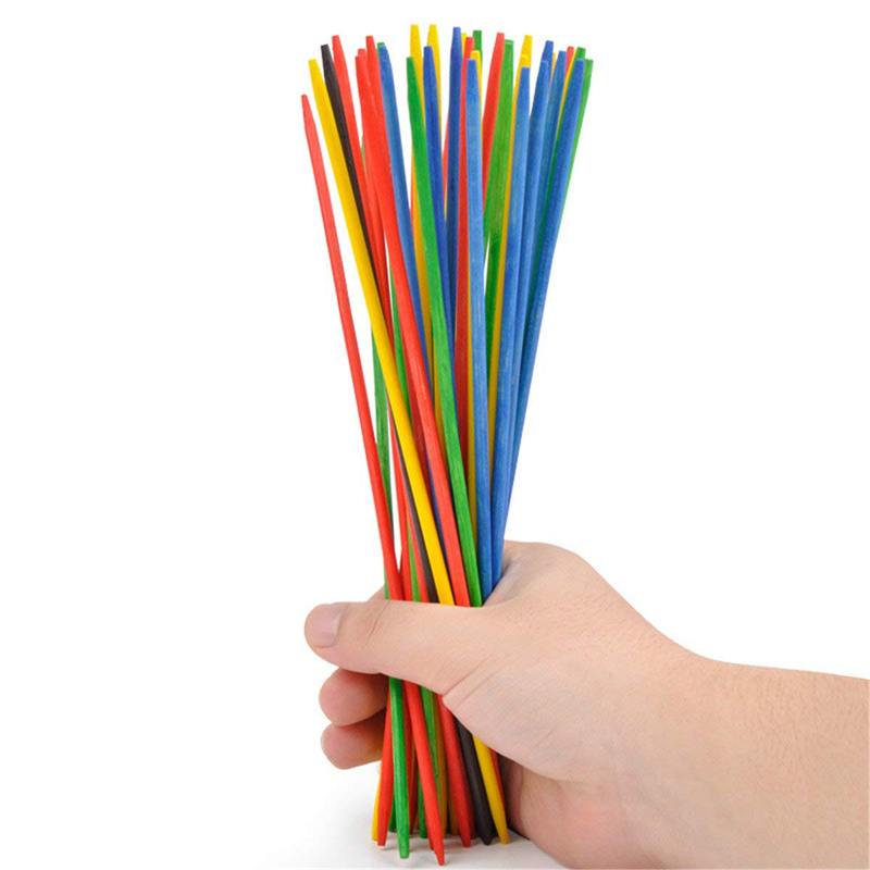 100Pcs/set Multicolor Pick-Up Sticks Game With Dice Classic Toy Desktop Party Game Toy Children Early Learning Educational Toy