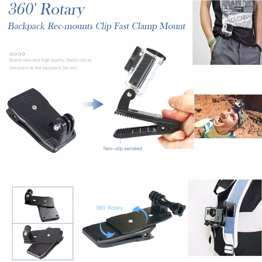 360 degree rotate clip For gopro Hero 4