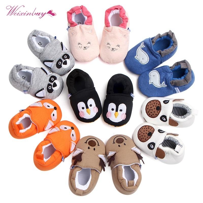 Baby Shoes Girls Boy First Walkers Newborn Slippers Baby Girl Crib Shoes Footwear Prewalker 0-18M