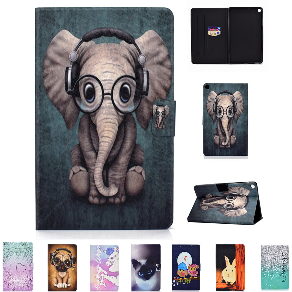 Slim Magnetic Folding Cover Sleeve Pouch Zipper Bags <font><b>Case</b></font> for Samsung Galaxy Tab S5e 10.5 2019 Sm <font><b>T720</b></font> T725 TPU Back Cute Cover image