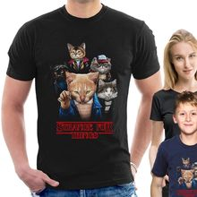 STRANGE FUR THINGS T-SHIRT Stranger things eleven cat lovers man woman kids H01 New T Shirts Funny free shipping