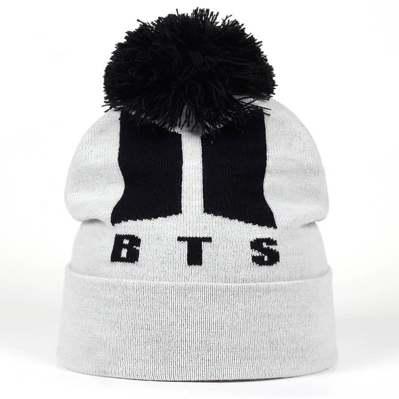 00fc715156caf 2018 New BTS ARMY Beanies Knit Cap Couple Winter Caps Skullie Bonnet ...