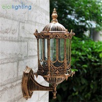 Europe Style retro outdoor wall lamp outside waterproof balcony aisle wall sconces corridor garden yard vintage porch lamp
