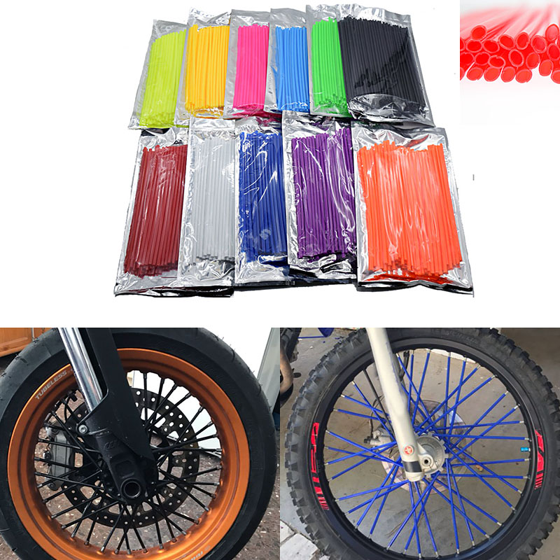 Motorcycle Motorcross Pit Dirt Bike Enduro Off Road Rim Wheel spoke skins cover For Yamaha Ducati KTM Suzuki Honda Kymco ATV universal motorcycle bicycle accessories bike wheel rim spoke skins for ktm bmw yamaha kawasaki suzuki ducati aprili r3 r1 tmax