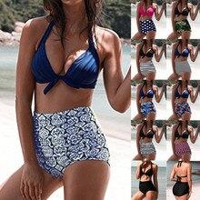 maillot de bain femme 2018 swimwear Women High Waist Bikinis Swimwear Swimuit Female Retro Beachewear Bikini Set bikini set