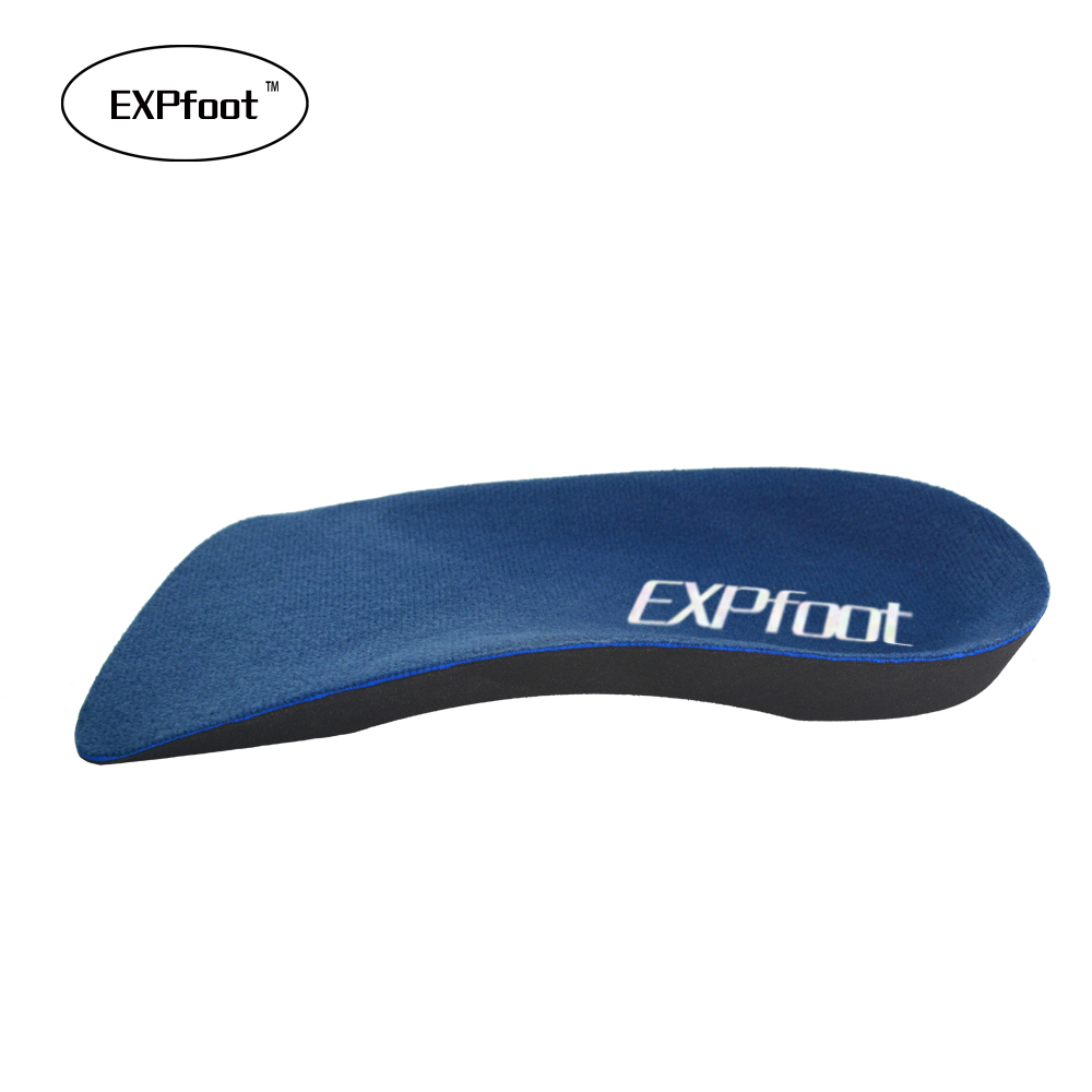 EXPfoot EVA Flat Foot Orthotics insoles  Arch Support Half Shoe Pad Orthopedic Insoles Foot Care for Men and Women size 36 to48 orthotic insoles adult flat foot arch support orthotics orthopedic insoles for men women feet health care pad shoes accessories