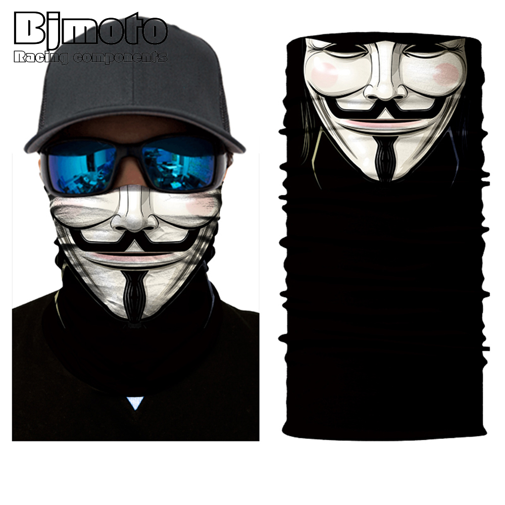 2018 Cycling Halloween Mask Windproof Ski Caps Bike Balaclavas Mask Bandana Bicycle Moto Head Scarf Neck Warmer Skull Face Mask in Motorcycle Face Mask from Automobiles Motorcycles