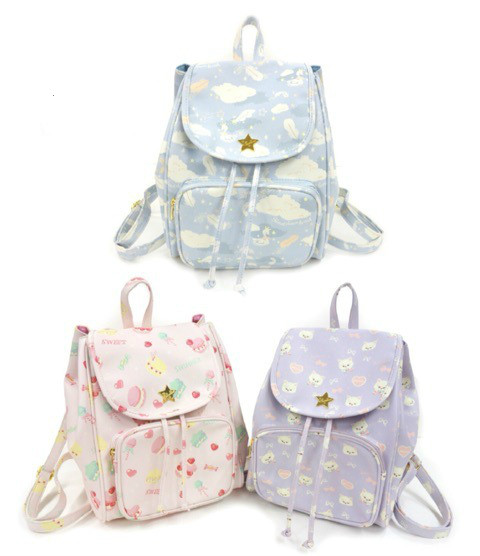 Super Sprout Summer Lovable Young Girl's Backpack Bag Women School Printing  Drawstring Bag