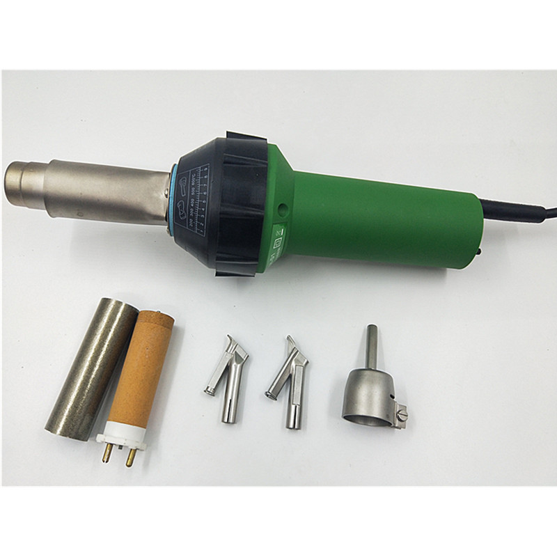 Air chaud en plastique pistolet de soudage kits Vinyle Chaud Souffle la Flamme de PP/LDPE/PVC PEHD géomembrane soudeur à air chaud heat gun TPO toit