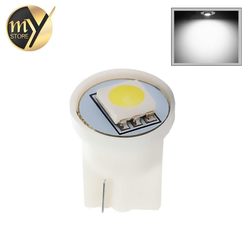 T10 1 SMD 5050 Pure White 194 W5W LED interior Lights Bulb Lamp 501 dash led