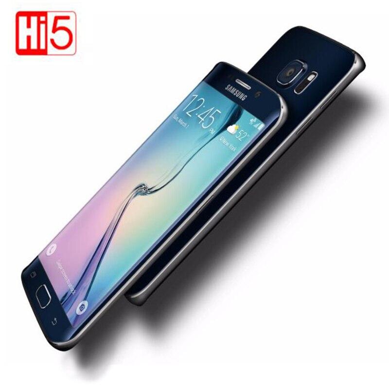 Sbloccato Samsung Galaxy S6 Bordo G925F 5.1 pollice display Del Telefono Cellulare Octa Core 3 gb di RAM 32 gb di ROM GSM WCDMA LTE 16MP Macchina Fotografica