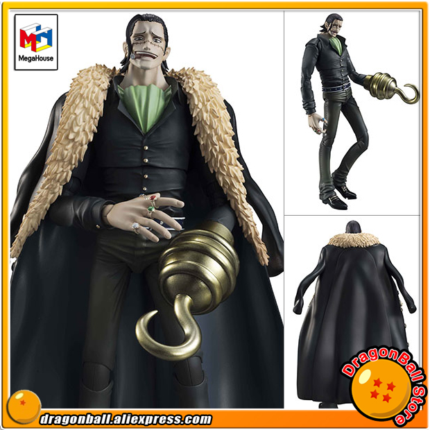 Japan Anime ONE PIECE Original MegaHouse Variable Action Heroes Action Figure - Crocodile prettyangel genuine megahouse variable action heroes one piece dracule mihawk action figure