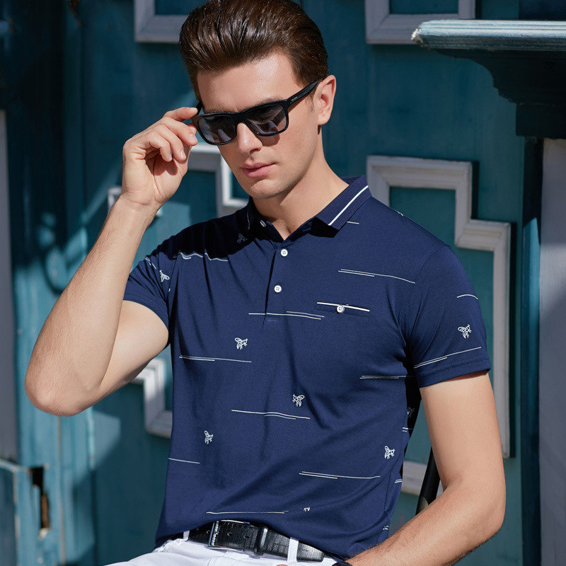 FGKKS Brand Men   Polo   Shirts 2019 Summer New Stripes Men's   Polo   Shirt Business Casual Men   Polo   Shirts Tee Top