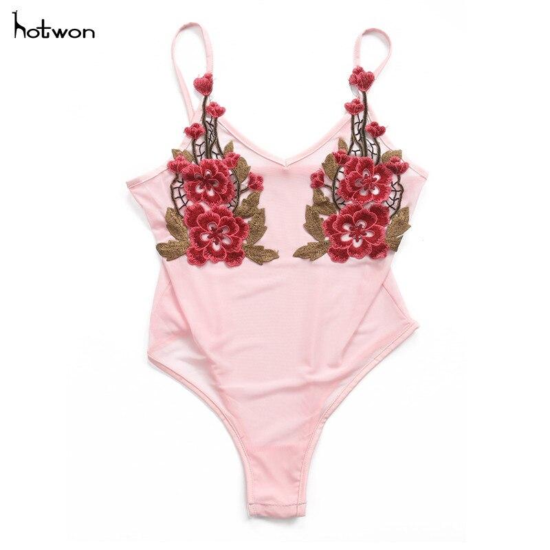 New Hot Sale Sexy Womens Bodysuit Crochet Mesh Sheer Lace -9933