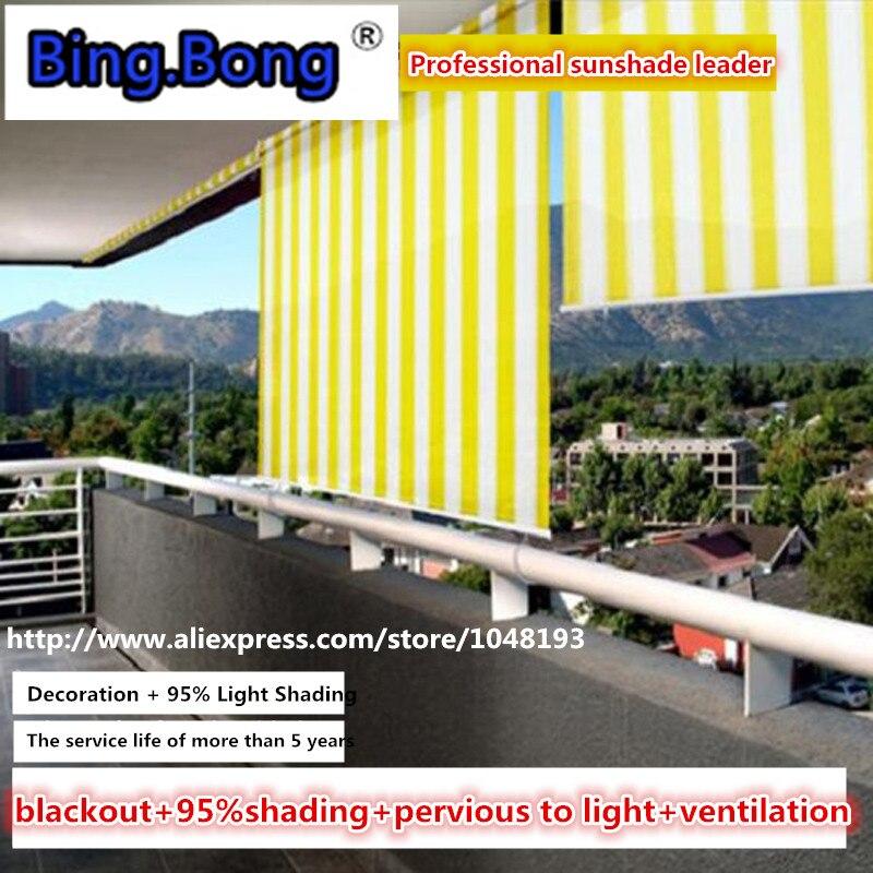 rideaux occultants pour fenetre interieure et exterieure stores pare soleil 95 m 1 8m 2 3m cortinas roulants balcon rideau respirant air max