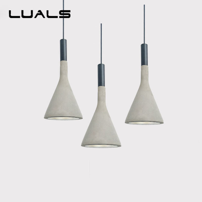 Nordic Concrete Retro Pendant Lamp Cafe Bars Creative Industrial Edison Pendant Lighting For Restaurant Deco Art Pendant Lights eiceo nordic ancient art cement resin creative pendant lamp minimalist retro cement lampshade for indoor cafe bars decor light