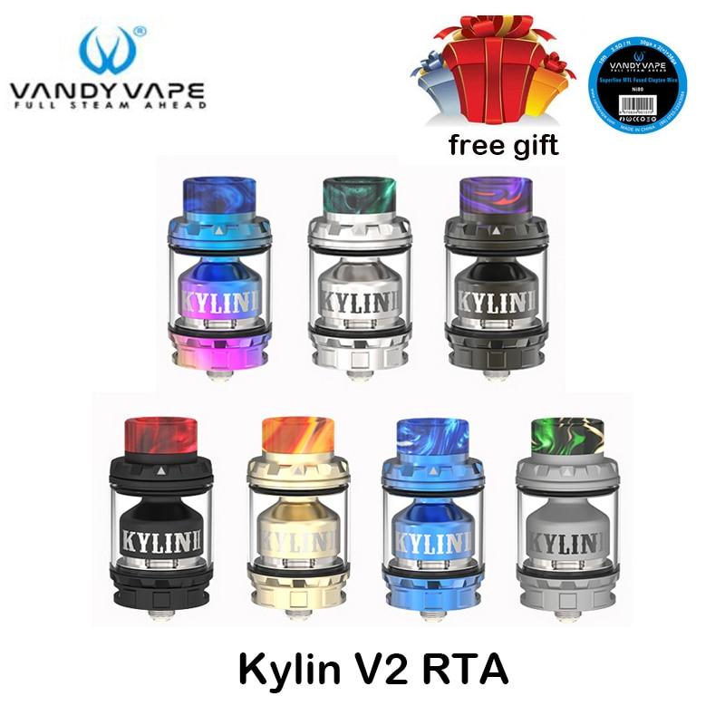 Original Vandy Vape Kylin V2 RTA 3ml/5ml E Cigarette Tank Atomizer for the VandyVape Box Mod squonk mod