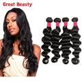 Peruvian Loose Wave Virgin Hair 4Pcs Lot Peruvian Loose Deep Wave Bundles Unprocessed 100% Alibarbara Human Hair Weave Extension