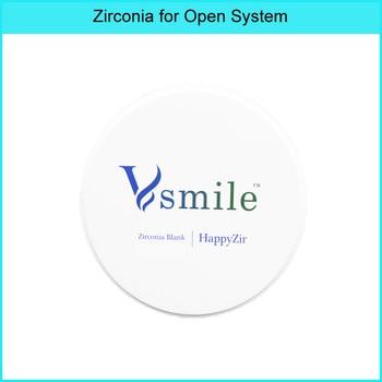 Vsmile dental Laboratory Supplies dental Zirconia CAD CAM Blank UT White 49% Ultra Translucent for anteiror teeth