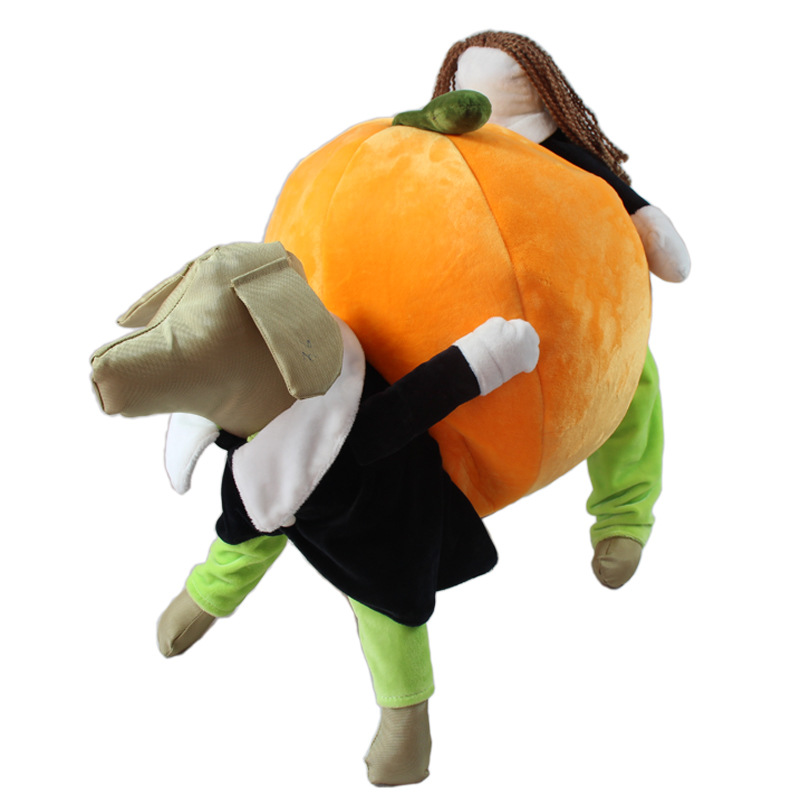 buy lovely dog halloween costume pet dog clothes funny dog costume jumpsuit pumpkin style pet costume dog coat jacket pet clothes from