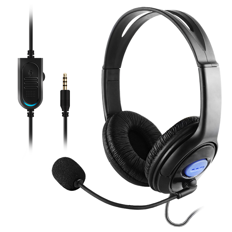 Stereo gaming headphone PS4 wired headset XBOX ONE gaming headphone stereo headband headphone for smart phone, xiaomi huhd 7 1 surround sound stereo headset 2 4ghz optical wireless gaming headset headphone for ps4 3 xbox 360 one pc tv earphones
