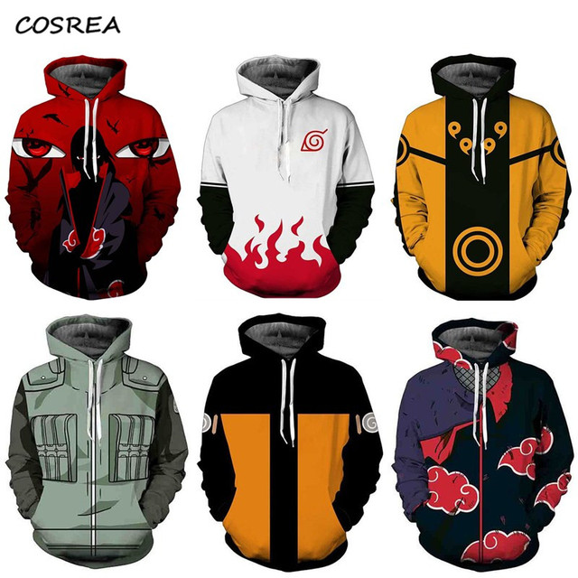 Hokage Ninjia Men hoodie Anime Sweater Naruto Uzumak Long Sleeve Pullovers  Hooded Jacket Sweatshirt Cosplay Costumes Party Props,in Anime Costumes  from