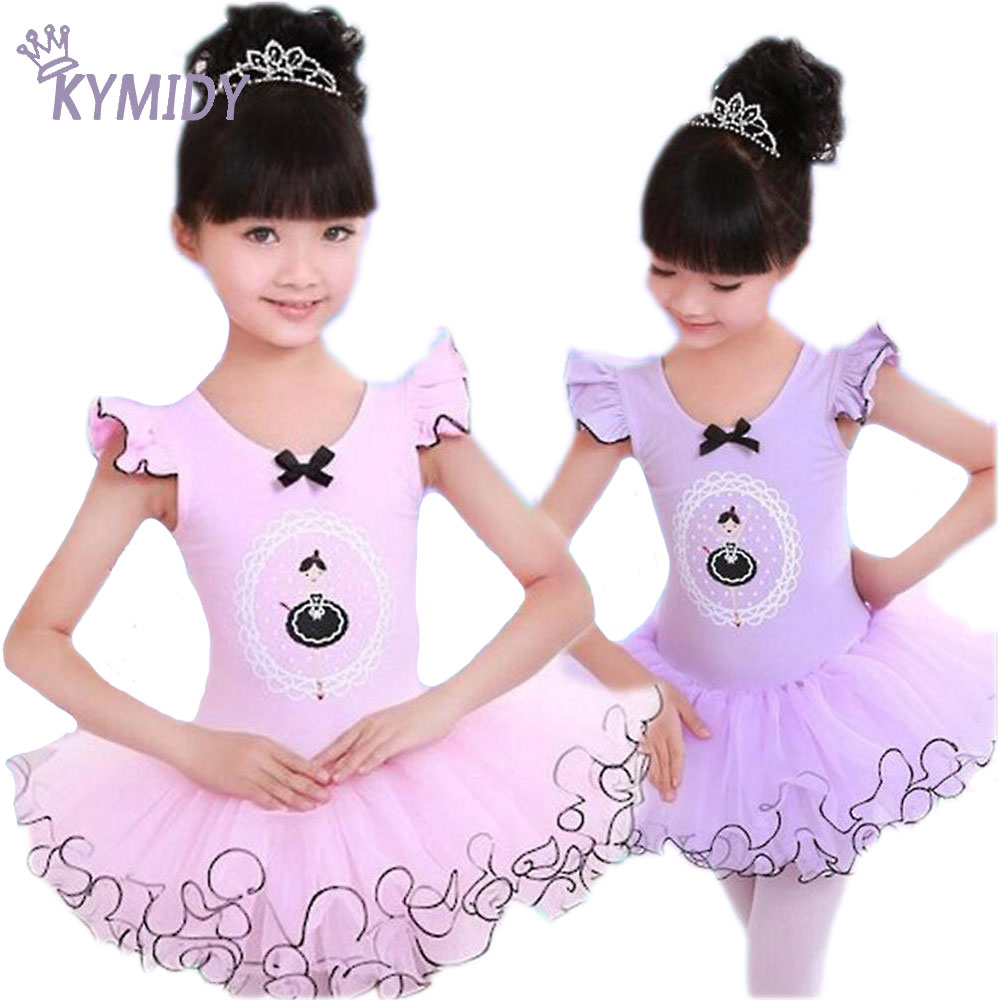 Girls Dress High Quality Soft Learn to Dance School Costume Ballet Dancing Dresses for Girls Summer 2017 Children Clothing Brand национальный костюм dance according to ballet 8272 ds 8272