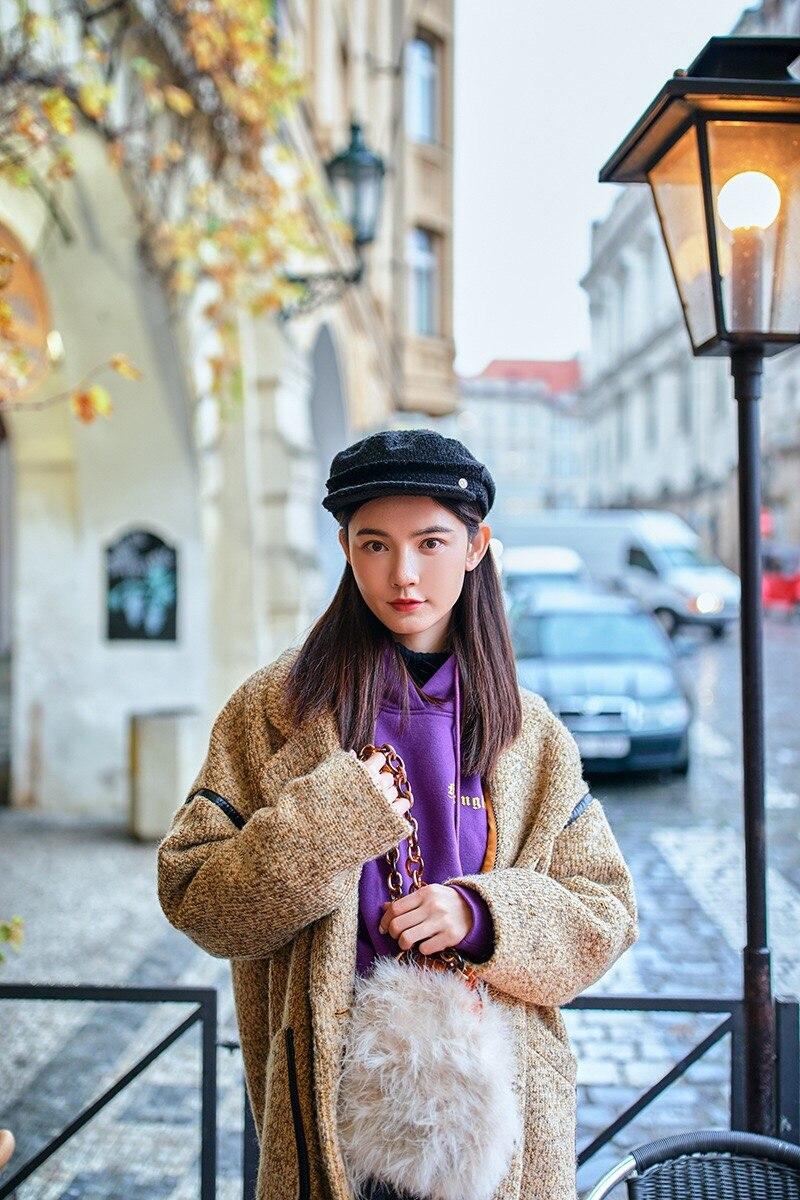Survêtement Vintage Style Angleterre Conception Veste Grâce Manteau 2019 Hiver Originale Surdimensionné Gloria Laine Champagne Lâche Et Élégant Long 6pWT8zWf