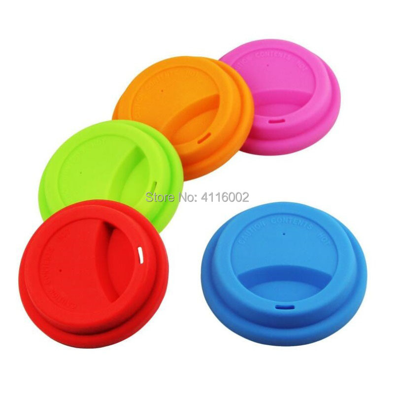 100pcs Anti Dust Silicone Lids for Tea Cup Cover Coffee Cups Reusable Leakproof Thick Suction Seal