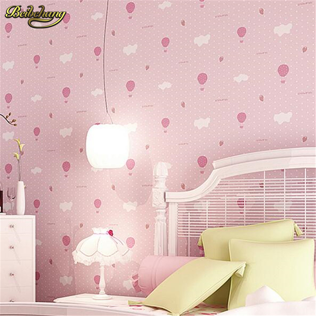 Beibehang Environmentally Friendly Breathable Warm Children S Bedroom Wallpaper Cute Pink Strawberry Parachute