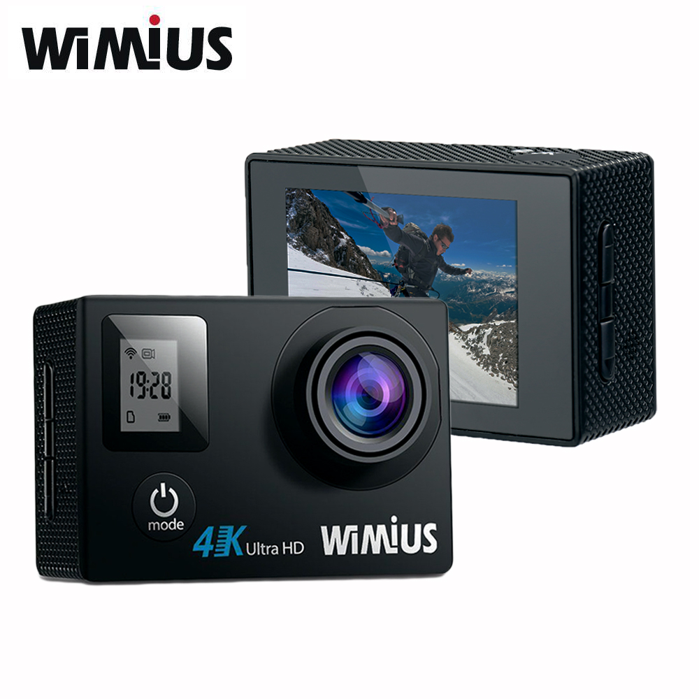Wimius 4K Action Camera Wifi Mini Video Sport Cam 170 Degree Wide Angle Full HD 1080P 60fps Go Waterproof 40M Pro +TWO Batteries attention mini waterproof action camera dv 126 170d viewing angle full hd 1080p wifi remote control fantastic sport camera