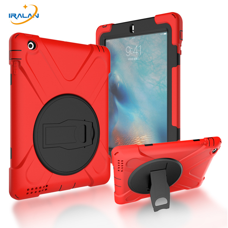 2017 fashion kids Silicone Tablet Case For Apple iPad 2 3 4 Armor Shockproof Waterproof Heavy