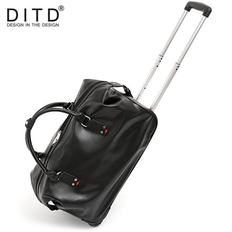 Suitcase Carry on Spinner Wheel Luggage Fashion Men PU leather Travel Bags  Weekend bag Duffle Bag f50e462de6d58
