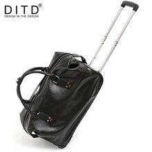 Купить с кэшбэком  Suitcase Carry on Spinner Wheel Luggage Fashion Men PU leather Travel Bags  Weekend bag Duffle Bag Large Overnight Tote Handbag