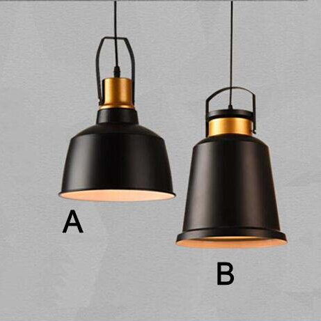 Nordic Industrial Retro Aluminum Pendant Lights Black Lamp Shade E27 for Restaurant /Bar/Coffee Shop Home Lighting Luminarias [ygfeel] village retro pendant lights american country style restaurant bar coffee shop lighting 3pcs e27 holder ac110v 220v