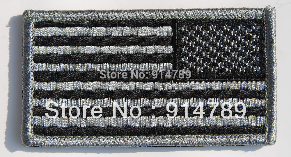 US AMERICAN FLAG MILITARY UNIFORM BLACK  PATCH-32624