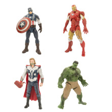 20cm 4pcs The Avengers age of ultron figurines toys 2016 New 1 Captain America +Ironman+Thor+ Hulk action figuras party supply