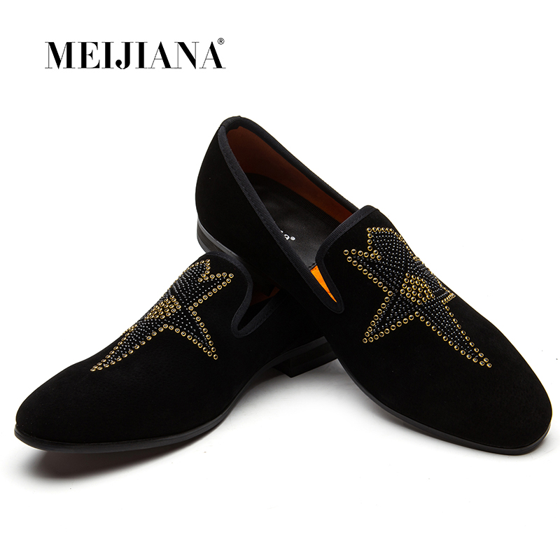 2018 New Hot Drilling Men Loafers Shoes Leisure Flat Shoes Spring Autumn Fashion Men's Comfortable Non-slip Leather Shoes