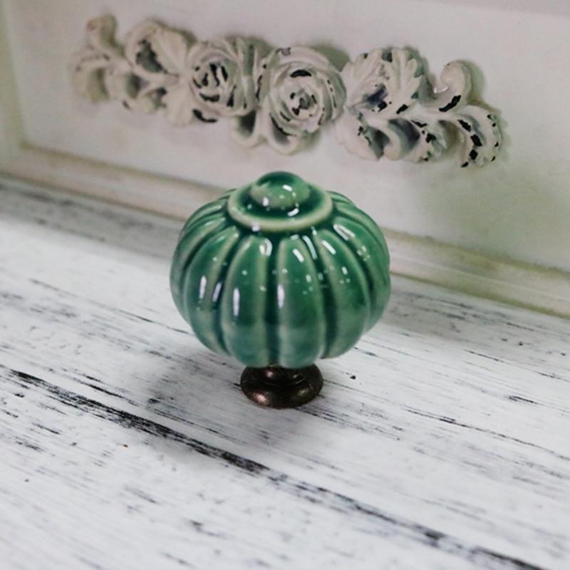 x6 Pink Ceramic Door Knobs Cabinet Drawer Luxury Handle Set