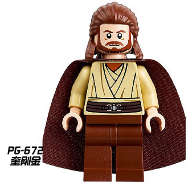 50pcs Pg672 Super Heroes Space Wars Qui-gon Jinn Luke Skywalker Princess Leia Slave Bricks Building Blocks Bricks Children Toys Toys & Hobbies Model Building