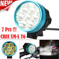 ISHOWTIENDA Cycling Light Frame 15000LM 7 x CREE XM L T6 LED Bicycle Cycling Light Waterproof Lamp Bicycle Accessories Front