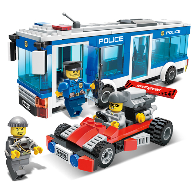 Models Building Toy 9315 Police Car Interception Culprits Action