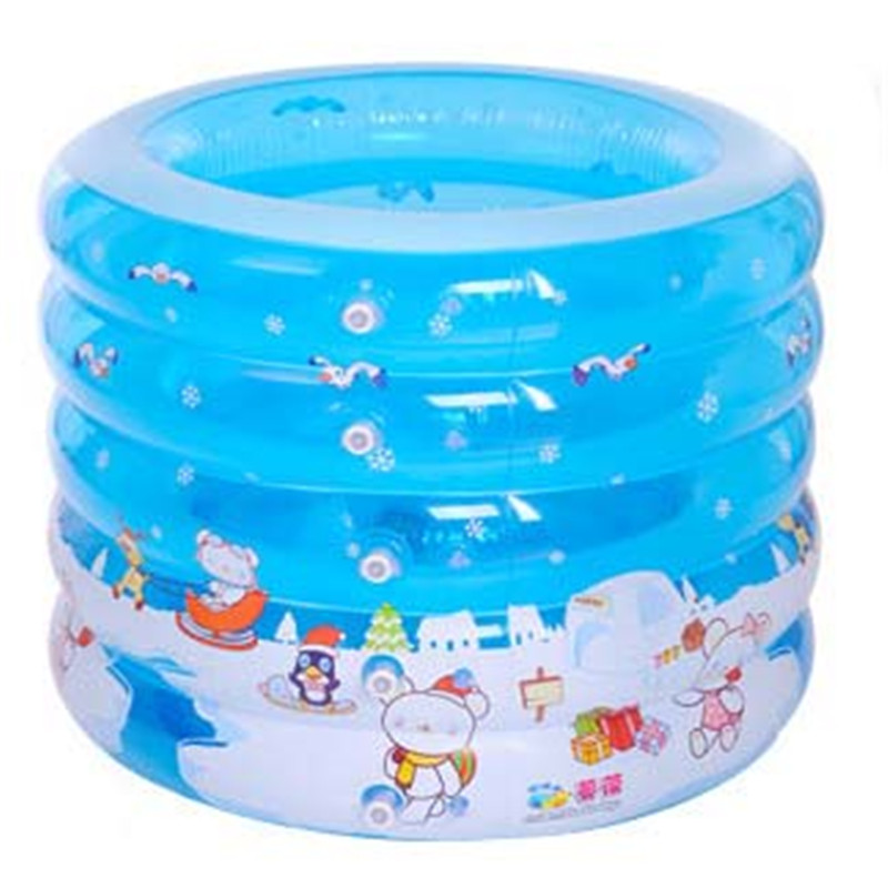 100 X 100 X 75 cm Round Extra Thick Blue Ground swimming pool Inflatable pool for kids Toddler Children Baby Water Pool
