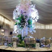 135CM Length 1PC Artificial Flowers Silk Wedding Decoration Fake Eustoma Fleurs Hogar Christmas 3 Colours Plant Oriental cherry